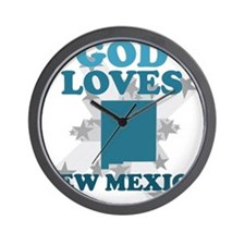 God Loves New Mexico Wall Clock