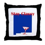 Stay Classy New Mexico Throw Pillow