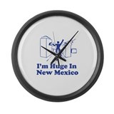 I'm Huge in New Mexico Large Wall Clock