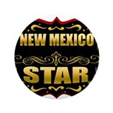 "New Mexico Star Gold Badge Se 3.5"" Button"