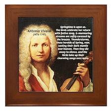 Classical Music: Vivaldi Framed Tile
