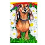 Dachshund Daisy Patch Postcards (Package of 8)