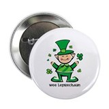 "Wee Leprechaun 2.25"" Button"