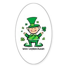Wee Leprechaun Oval Decal