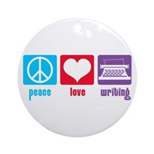 Peace Love Writing Ornament (Round)