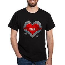 My Heart Utah Vector Style T-Shirt