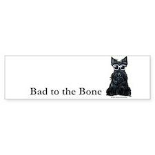 Scottie Bad to the Bone Bumper Sticker