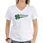 Belmar NJ Shamrock Women's V-Neck T-Shirt