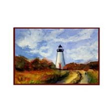 Cape Pogue Lighthouse Rectangle Magnet