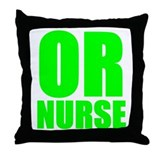 Bold RN green Throw Pillow