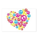 Love & Peace in Heart Postcards (Package of 8)