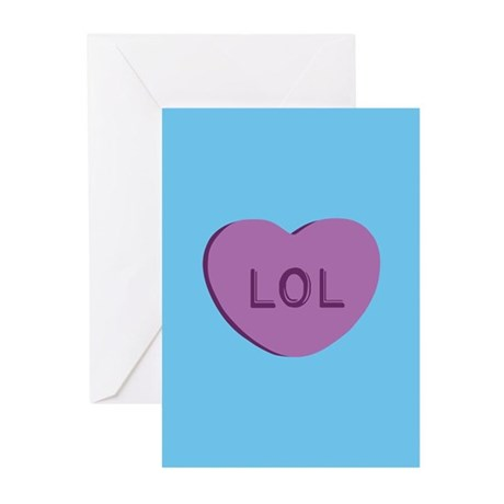 LOL Candy Heart Greeting Cards (Pk of 20)