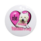 Westie Valentines Day Ornament (Round)