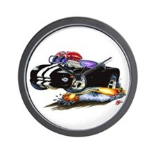 Viper Black/White Convertible Wall Clock