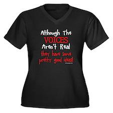 The Voices Women's Plus Size V-Neck Dark T-Shirt
