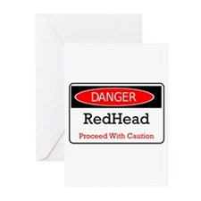 Danger! Red Head! Greeting Cards (Pk of 10)
