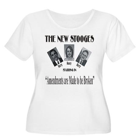 New Stooges: Amendments Women's Plus Size Scoop Ne
