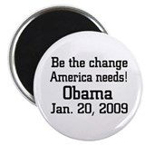 Obama Jan. 20, 2009 Magnet