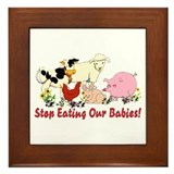 Stop Eating Our Babies Framed Tile