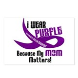 I Wear Purple For My Mom 33 PC Postcards (Package