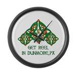 Get Reel In Dunmore Large Wall Clock
