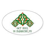 Get Reel In Dunmore Oval Sticker