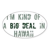 Big deal in Hawaii Oval Decal