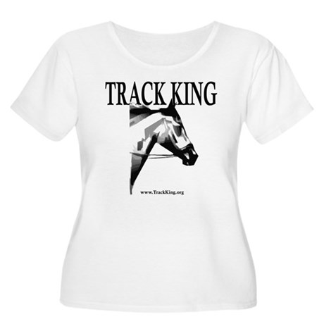 Track King Women's Plus Size Scoop Neck T-Shirt