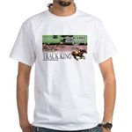 Track King White T-Shirt (Colour image)