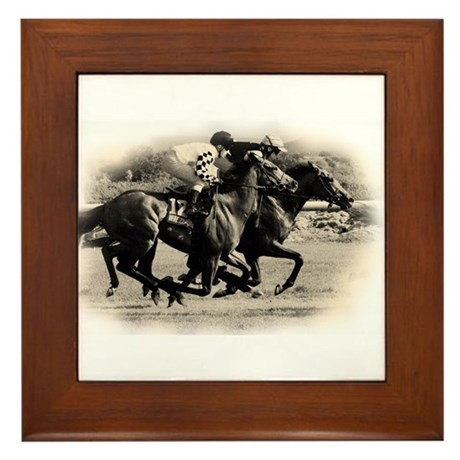 Racing Horse design Framed Tile