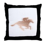 Track King Throw Pillow