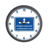 Three Possibilities of Visit, Cambodia Wall Clock