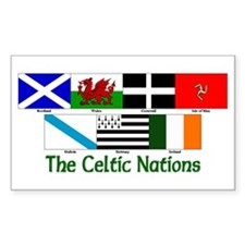 Celtic Nations Rectangle Decal