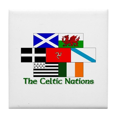 Celtic Nations Tile Coaster