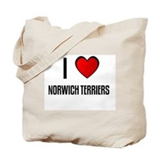 I LOVE NORWICH TERRIERS Tote Bag