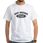 Most Awesome Husband White T-Shirt