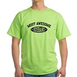 Most Awesome Husband Green T-Shirt