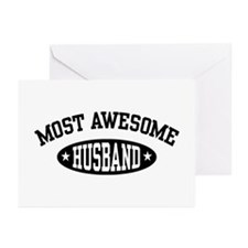 Most Awesome Husband Greeting Cards (Pk of 10)