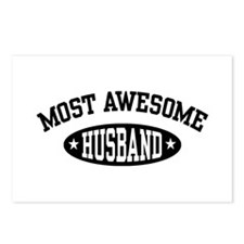Most Awesome Husband Postcards (Package of 8)