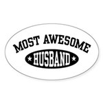 Most Awesome Husband Oval Sticker