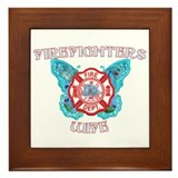 Firefighters Wife-1 Framed Tile