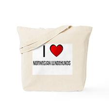 I LOVE NORWEGIAN LUNDEHUNDS Tote Bag