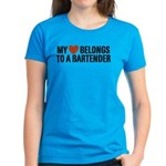 My Heart Belongs to a Bartender Women's Dark T-Shi