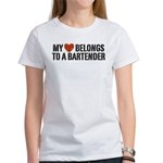 My Heart Belongs to a Bartender Women's T-Shirt