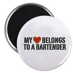 My Heart Belongs to a Bartender Magnet