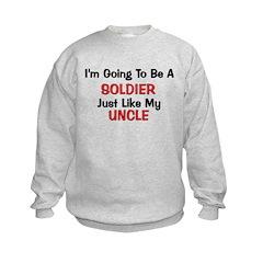 Soldier Uncle Profession Kids Sweatshirt