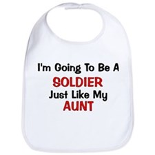 Solider Aunt Profession Bib