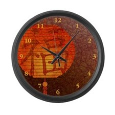 Paper Lantern Large Wall Clock