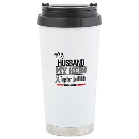 BrainCancerHero Husband Ceramic Travel Mug