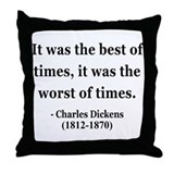Charles Dickens 2 Throw Pillow